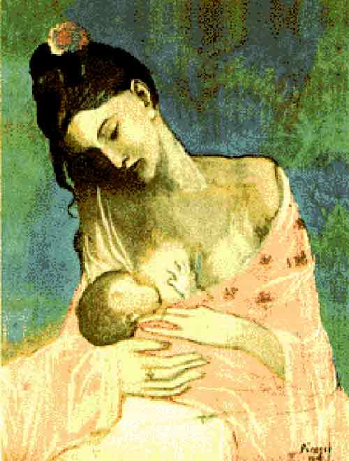 breastfeeding art - breastfeeding, picasso