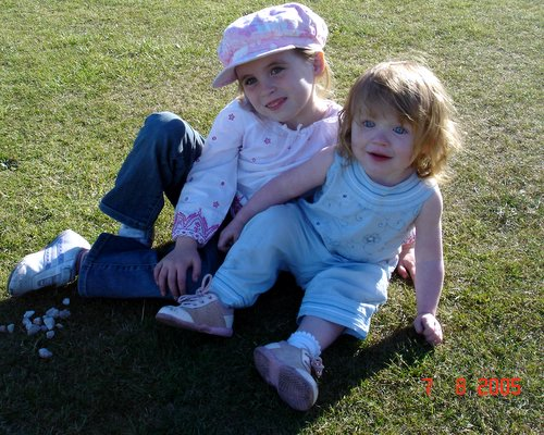 photograph of two children before using picasa, © www.BreastFeedingMums.com